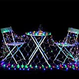 IMAGE 300 LED Net Mesh Fairy String Light, 8 Modes flashing with memory function Lighting 4.5M/14.8FT1.5M/5FT for Wedding & Party Backdrops Tree Waterproof & UL Safety Standard - Multi Color