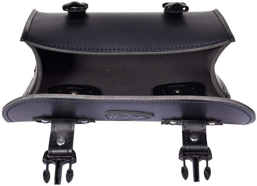 Leder Abnehmba wasserdichte Schwarz Universal Motorrad Seitentaschen mit 2 Montiertem Gurt PIONIN Motorrad-satteltasche