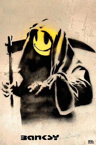 Banksy The Reaper Figurative Illustration Print Poster 24x36