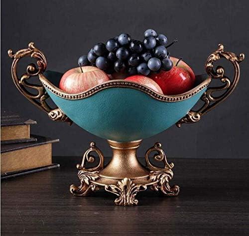 フルーツボウル 欧州の樹脂キッチンフルーツボウルストレージラック、カウンターフルーツスナック洋菓子ナッツキャンディープレートは、リビングルームパーティーや結婚式、37x20x25cm用スタンド表示 (Color : Blue)