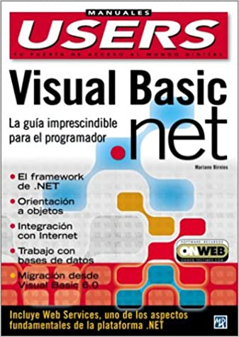 Visual Basic .NET Manual del Programador: Manuales Users, en Espanol / Spanish (Spanish Edition): Mariano Birnios, MP Ediciones: 9789875261129: Amazon.com: ...