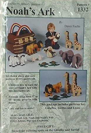 CreaNativity Stuffed Animals Noah\'s Ark Giraffes, Turtles and Lions ...
