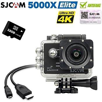 SJCAM SJ5000x Elite Sony IMX078 Gyro 4K 24 2K Action Camera with 32G TF Card(Black)