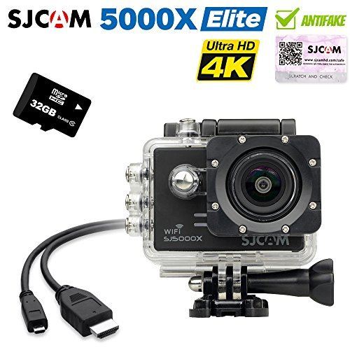 SJCAM SJ5000x Elite Sony IMX078 Gyro 4K 24 2K Action Camera with 32G TF Card(Black) Action Cameras
