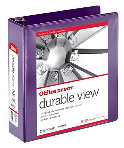 Office Depot antiadherente round-ring View Binder, 3 en. Anillos, 100% reciclado, color morado, od06623: Amazon.es: Oficina y papelería