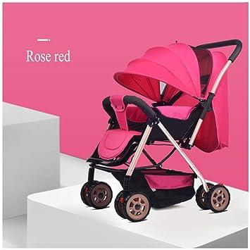 GSDZN - Sillas De Paseo Cochecito Carritos Deportivos Sistemas De Viaje Carro De Bebe Adecuado para Niños De 0 A 3 Años / 25 Kg,Pink-B: Amazon.es: Hogar