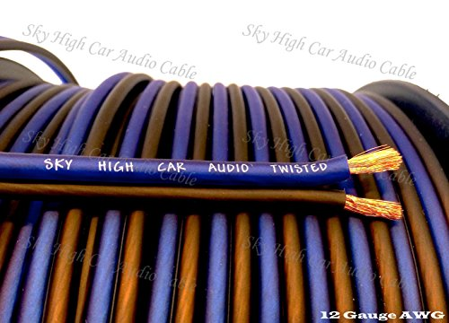 1000' feet TRUE 12 Gauge AWG CCA Speaker Wire Car Home Audio by Sky High Car Audio