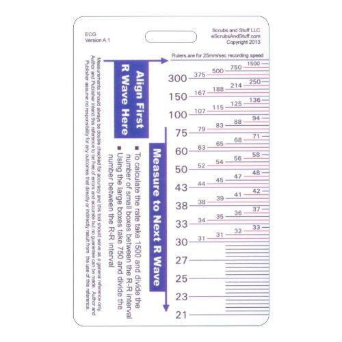 Ekg Ruler Vertical Badge Id Card Pocket Reference Guide Ecg Import