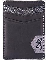 Browning Leather Front Pocket Wallet, Black