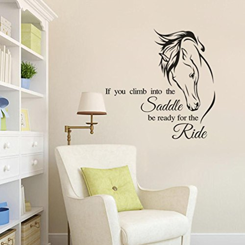 Horse Head Pattern - Jieyui Art Wall Decor Quotes Horse Head Pattern Stickers Removable Art Vinyl Mural Decor Wall Stickers