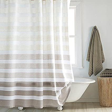 Amazon.com: DKNY Highline Stripe Shower Curtain: Home & Kitchen