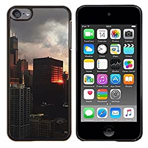 Eason Shop / Premium SLIM PC / Aliminium Casa Carcasa Funda Case Bandera Cover - Reflexión del edificio City View - For Apple iPod Touch 6 6th Touch6