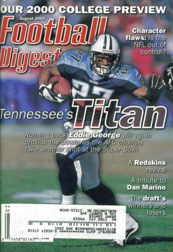 Football Digest : Tennessee Titans' Eddie George (August 2000)
