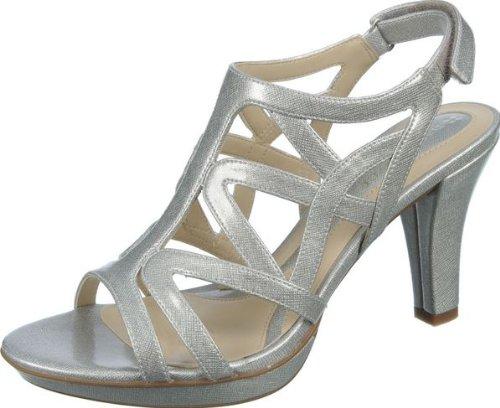 - Naturalizer Women's Danya Soft Silver Crosshatch Shiny 6 AA US