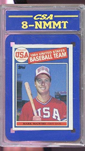 1985 Topps #401 Mark McGwire 1984 USA Team ROOKIE RC CSA 8 Graded Baseball Card