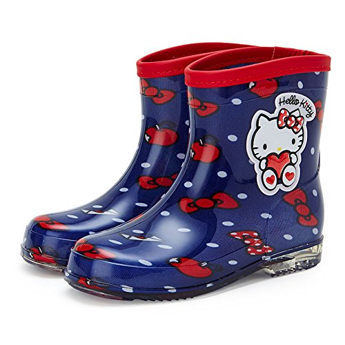 Sanrio Hello Kitty Kids boots Navy 19cm From Japan (Boots From Dora Costume For Adults)