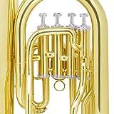 Mendini MEP-L Lacquer Brass B Flat Euphonium with