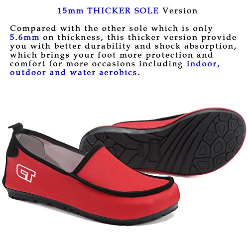 Driving Walking Skin Shoes Multifunctional Women's on Loafers Beach For Red Surf Pool Girl's Swim Barefoot Fantiny Slip Sports Comfortable tzTqHwt