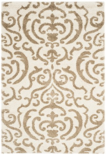 Safavieh Florida Shag Collection Sg462 1113 Cream And