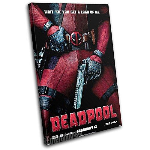 Bold Bloc Design - Deadpool Superhero Poster Movie Greats 60