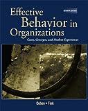 Effective Behavior in Organizations 9780072396706