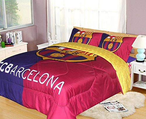 FCBarcelona Twin Size 3pc Comforter Set, Yellow