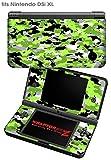 Nintendo DSi XL Skin WraptorCamo Digital Neon Green