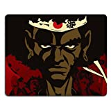 Afro Samurai Headband Mouse Pads Anime Game Manga Comic ACG Customized Made to Order Support Ready 9 7/8 Inch (250mm) X 7 7/8 Inch (200mm) X 1/16 Inch (2mm) High Quality Eco Friendly Cloth with Neoprene Rubber Woocoo Mouse Pad Desktop Mousepad Laptop Mousepads Comfortable Computer Mouse Mat Cute Gaming Mouse_pad