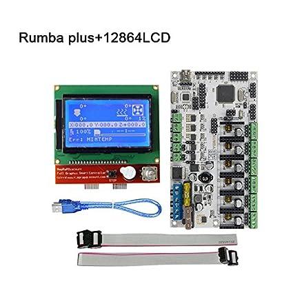 lzndeal Kit de Arranque la Impresora Rumba Plus 3D Tarjeta Madre + ...