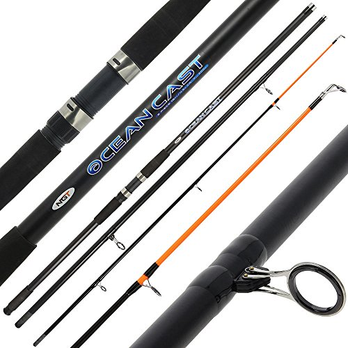 1 x 15FT Beach Caster Sea Fishing Rod Oceancast NGT 4.5M 3 Piece Up To 7 oz