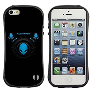 LASTONE PHONE CASE / Suave Silicona Caso Carcasa de Caucho Funda para Apple Iphone 5 / 5S / Blue Aliens