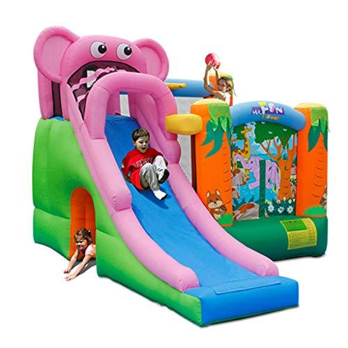 [해외]풍선 슬라이드 아이 용 대형 완구 실내용 홈 풍선 성 어린이 실내 슬라이드 놀이터 어린이 트램 폴 린 풍선 놀이터 성곽 (Size: 300x360x240cm) / Inflatable Slide Children`s Large Toy Indoor Home Inflatable Castle Children`s Indoor Slide Pl...
