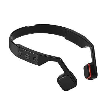 Richer-R Auriculares de Conducción Ósea Universal,Auriculares Inalámbricos con Micrófono de Manos Libres