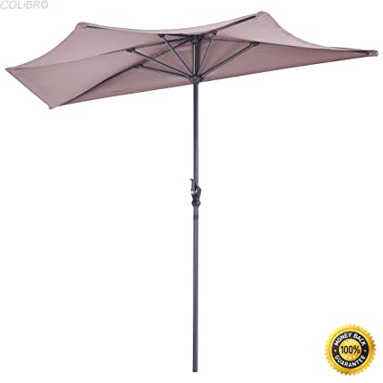 COLIBROX--9Ft Half Round Umbrella With 20u0026quot; Outdoor Patio Half Round Umbrella Base  sc 1 st  Amazon.com & Amazon.com : COLIBROX--9Ft Half Round Umbrella With 20