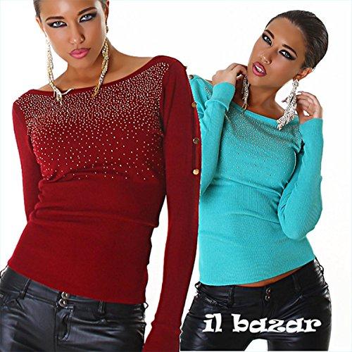 IL BAZAR - Jerséi - Manga larga - para mujer azul claro