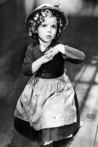 Shirley Temple Curls and Hat Cute Portrait 24x36 Poster