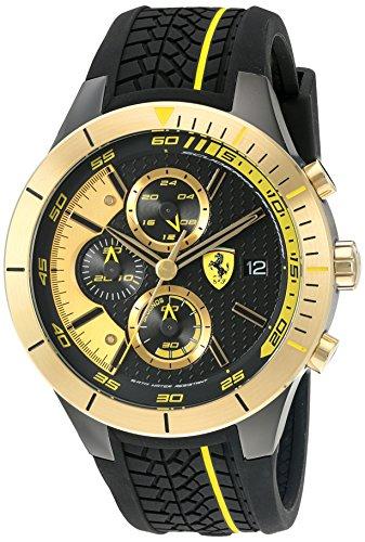 Ferrari-830295-RED-REV-EVO-CHRONO-Quartz-Resin-and-Silicone-Watch