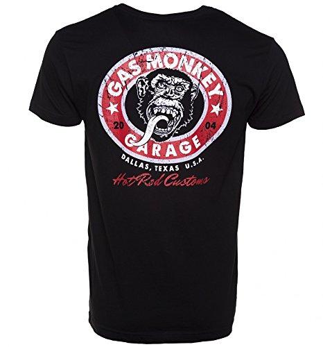 Mens Black Fast N Loud Gas Monkey Garage Hot Rod Custom Logo Premium T Shirt