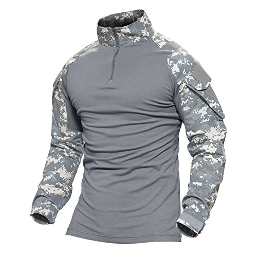 MAGCOMSEN US Army T Shirts for Men Cotton Snow T-Shirt Camo Jacket Long Sleeve Tshirt Camouflage ()