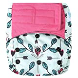HappyEndings Contoured'Day or Night' All in One AIO Hook and Loop Cloth Diaper (+Pocket)'Whale of a Tale'