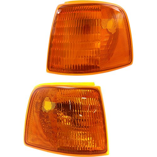 Evan-Fischer EVA20572054944 Corner Light Set Of 2 For Ranger 93-97 Right and Left Side Included Park/Side Marker Lamp Lens and Housing Park Light Housing