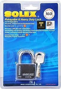 Solex Chrome Padlock 40mm
