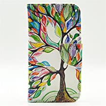 S5 Case, Galaxy S5 Case, GOODTONY [Wallet Function] The unique design PU Leather Wallet Stand Flip Case Cover for Samsung Galaxy S5 (Tree of Life)