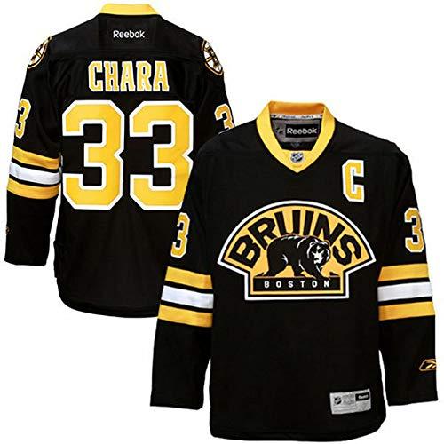 Reebok Youth Boston Bruins Zdeno Chara #33 Black Alternate Premier Jersey (Youth L/XL)