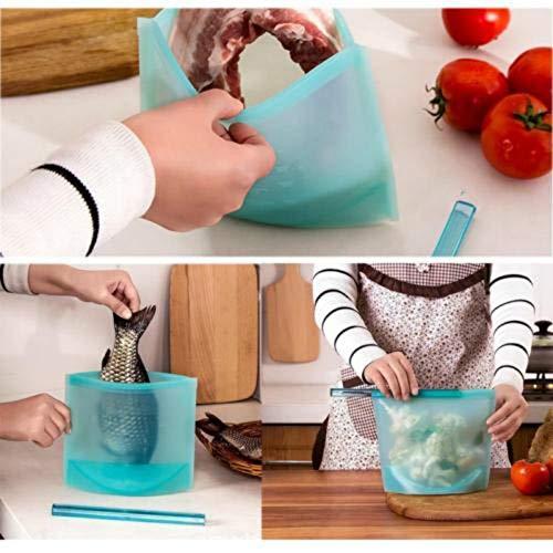 KathShop Reusable Seal Silicone Food Fresh Bag Vacuum Sealer Fruit Milk Storage Bags AU (Glass Concord Bowls)