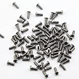 Owfeel Pack of 100pcs M3*8MM Button Head Hex Socket Cap Screws 304 stainless steel bolts