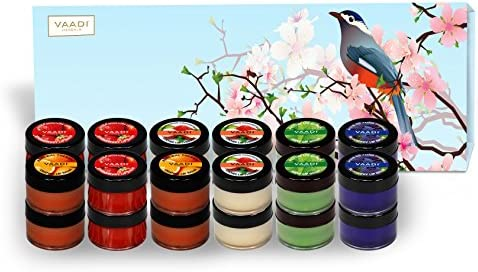 Lip Balm Gift Set – All Natural – Herbal Lip Therapy – Pack of 24 X 10 Gms – Beautiful Gift Packs – Vaadi Herbals
