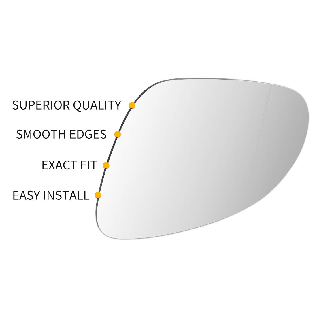 uxcell Left Side Rearview Mirror Glass with Adhesive for Mercedes-Benz SL SLK CLK AMG