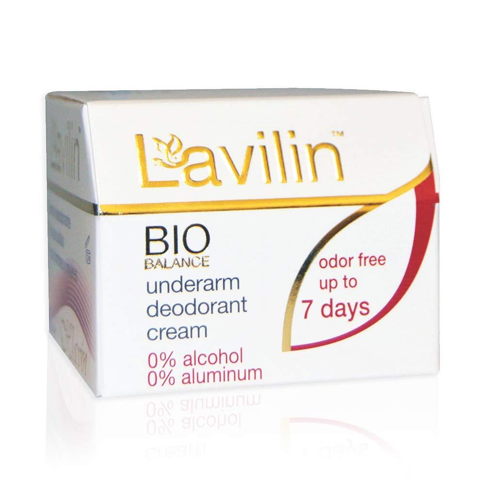 Lavilin Underarm Deodorant Cream - Aluminum Free Deodorant for Women and Men, Up to 7 Days Odor Control – Alcohol, Paraben and Cruelty-Free, 12.5 gr