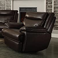 Coaster Home Furnishings 601813P Macpherson Motion Collection Power Glider Recliner, Cocoa Bean